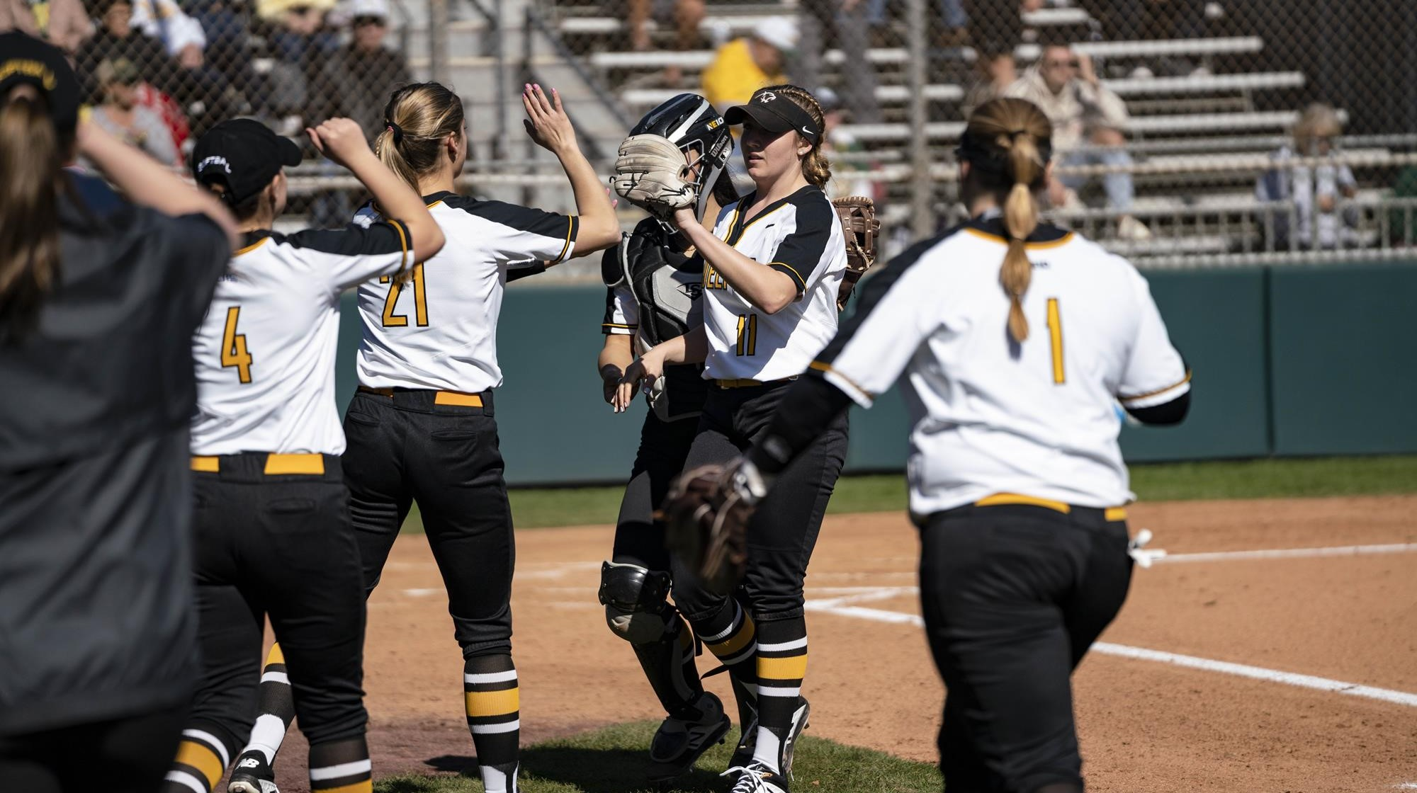 Softball Downs Mercy in St  Patrick's Day Sweep, 9-0 and 4-3